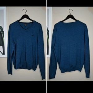Brooks Brothers Men's Merino Wool Blue Sweater